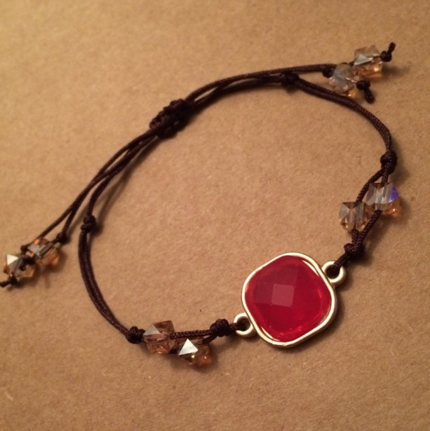 Adjustable ruby bracelet