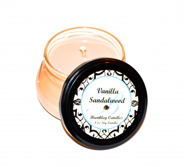 Vanilla Sandalwood 8oz 100% Soy Candle