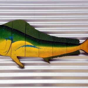 Mahi Mahi / Dolphin Fish / Dorado Wall Art for Fisherman, Husband, Boyfriend, Dad for Birthday, Anniversary, Father's Day or Your Coastal Beach House