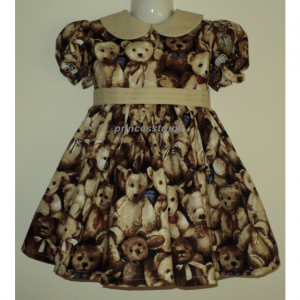 NEW Handmade Cute Teddy Bears Dress Deluxe Custom Sz 12M-14Yrs
