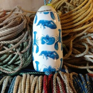 Blue lobster! A real Maine lobster buoy