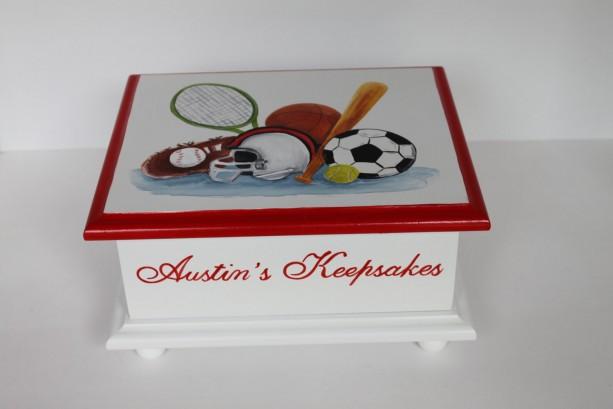 Baby Keepsake Box Memory Box - Sports  - baby gift