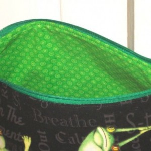 YOGA Frogs COSMETIC BAG, Bridesmaid Gift, Holiday Gift, Toiletry Bag, Pencil Case, Travel Bag, Gift, Kids Toy bag