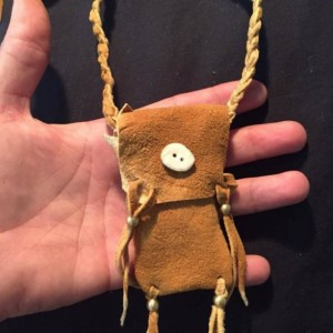 Brain Tan medicine bag Native American made