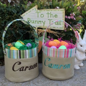 Personalized Fabric Easter Basket