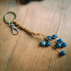 SODALITE handmade keychain | mother's day | best friend gift | boho keychain | crystal keychain | macrame keychain | crystal gift | crystal
