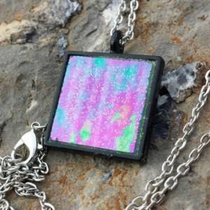 Minecraft Ender Portal Glass Pendant Necklace