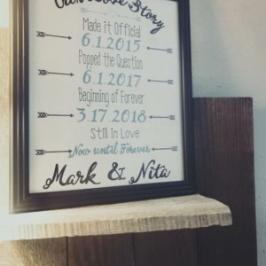 "Customized ""Our Love Story"" Sign"