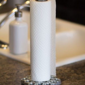 Nuts and Bolts Paper Towel Holder