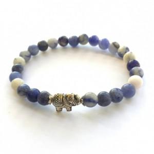 Sodalite & Elephant Bracelet
