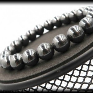 Hematite Solid Gemstone Bracelet for Overcoming Compulsive Disorders