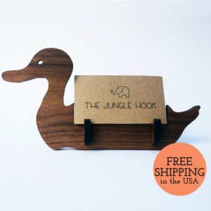 Duck business card holder for desk