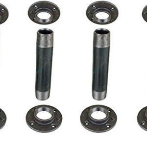 "Black Pipe Legs, INCLUDES 4 Table Legs - 3/4"" x 30""  ""DIY"" Parts Kit"