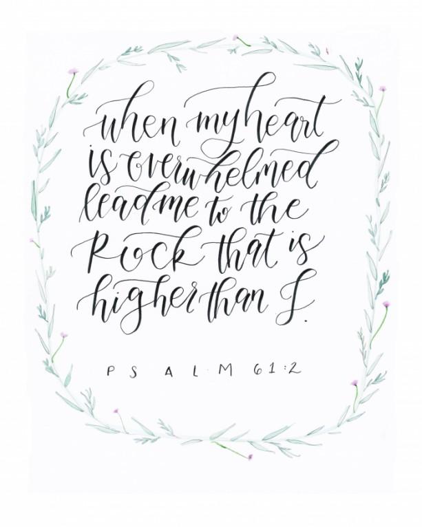 Psalm 61:2 Art Print (8x10)