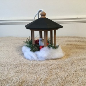 Indoor Winter birdhouse gazebo decoration