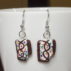 Polymer Clay Pop Tart Earrings Miniature food, realistic food