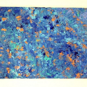Blue Canvas Painting, Blue Minimalist Art, Large Blue Painting, Contemporary Art, Blue Acrylic painting, Living Room Wall Art, Blue Copper
