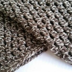 Scarf Hood Cowl Infinity Crocheted Fishermen's Wool