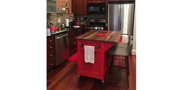 Customizable, Kitchen Island, Kitchen Storage, rolling island, Seating, kitchen island on wheels, kitchen cabinet, spice rack, spice holder