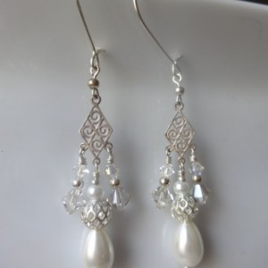 Fractal Teardrop Dangle Earrings