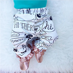 Organic Baby Leggings | Hello There Print