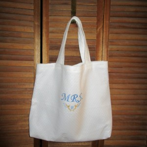 MRS Bridal Embroidered Tote Bag