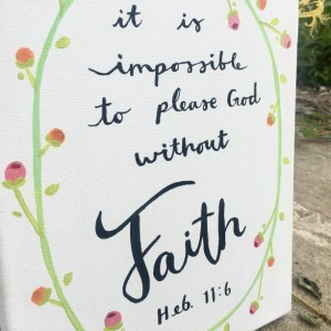 Hand Painted Scripture on Canvas