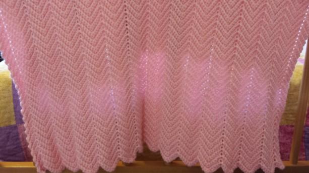 Pink Ripple Baby Blanket