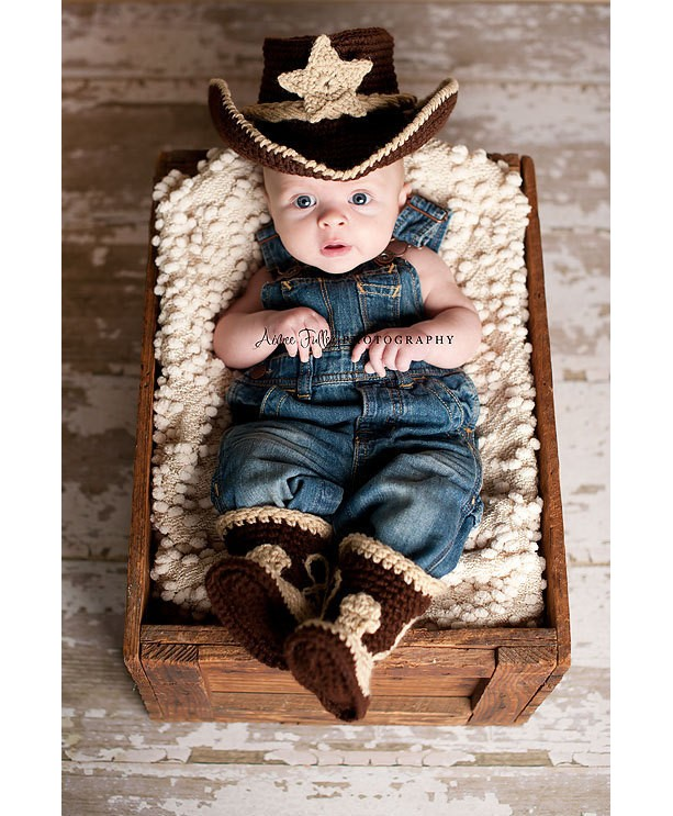 78ce09884ff86 ... Baby cowboy hat and boots set you pick the colors and size-Made to order