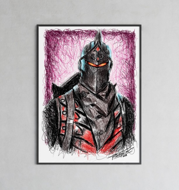 Fortnite's Black Knight Print by Pablo Piacentini