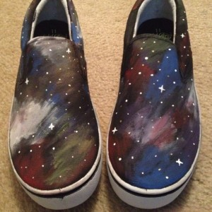 Handpainted Galaxy Shoes