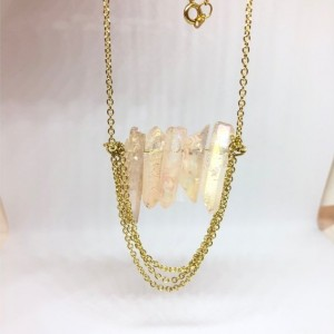 Gold Stone Chain Necklace