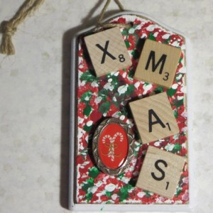 Scrabble® Game Tile Christmas Ornament (FREE SHIPPING!) Xmas