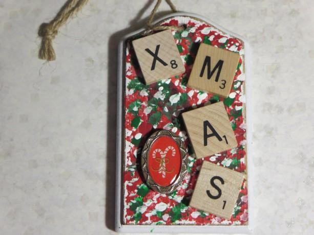 Scrabble® Game Tile Christmas Ornament (FREE SHIPPING!) Xmas