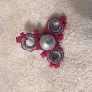 Pink Zip Tie Fidget Spinner