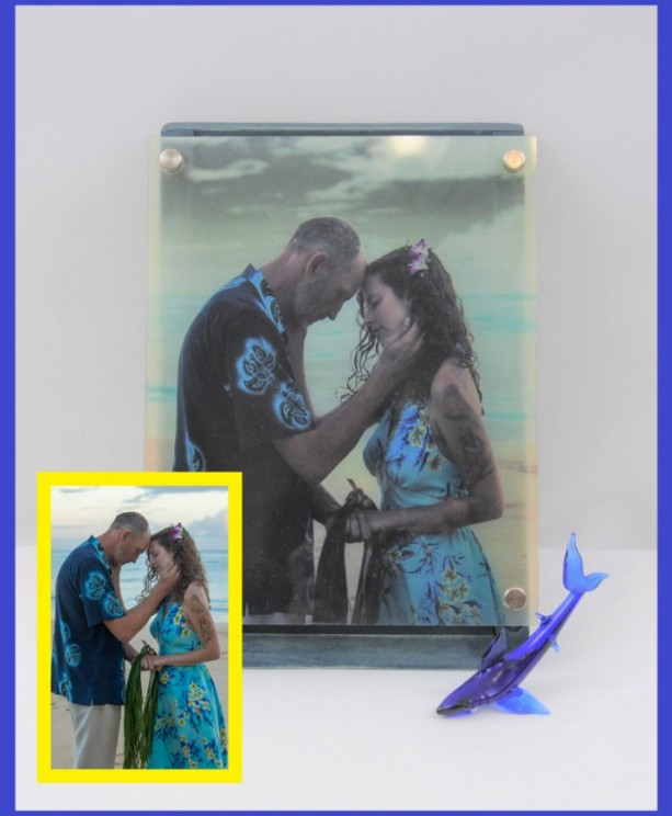 Custom Lighted Music Box from Your Photo, Printed on Glass with Wood Box, Choose Between 3 Different Songs