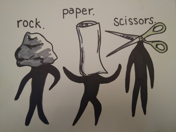 Rock Paper Scissors Art