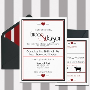 Black and Red Elegant Wedding Invitation, Printed, Custom Invitation, Letterpress, Flat Printed, Romantic and Elegant, Classic, Deposit