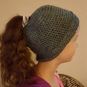 Crocheted Ponytail Hat