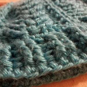 Teal blue teen/children's hat.  Winter wear. Snow accessory