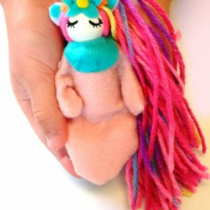 Unicorn dolls - Sleeping unicorn baby - Unicorn toy - Unicorn party favor - baby Unicorn - Unicorn handmade - Girls toys - Stocking stuffer