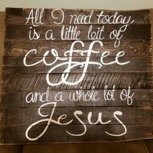 All I need today is a little bit of coffee and a whole lot of Jesus wooden pallet coffee bar sign, coffee decor, coffee addict sign