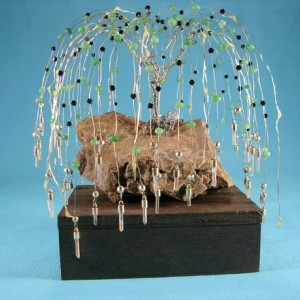 Cascading Aventurine Willow Tree
