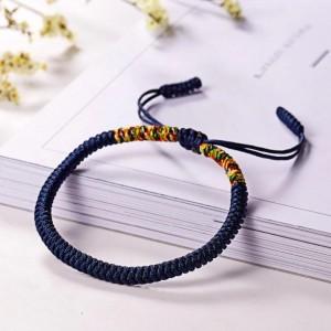 Blue Tibetan Buddhist Lucky Rope Bracelet, Meditation Bracelets For Women Men, Handmade Knots Rope Buddhist Bracelet, Yoga Bracelet, Prayer