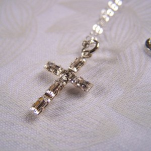 Cross Pendant Swarovski Baguette Crystal Confirmation Communion