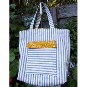 Striped Shopping Bag