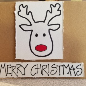 Christmas Reindeer Blank Notecards, 5-Pack