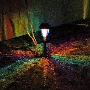 Hand-Painted Solar LED Rainbow Path Light