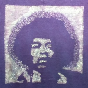 Jimi Hendrix Custom Batik Tshirt