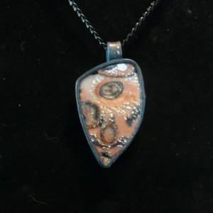 Pendant Faux Stone Design, Handmade